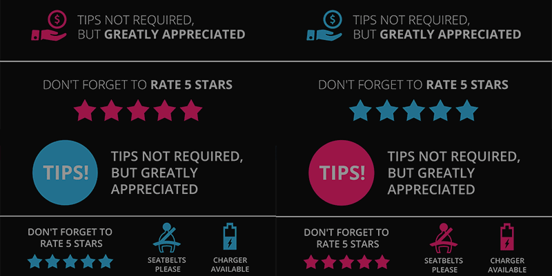 Uber Tip Sign Professionally Designed Free