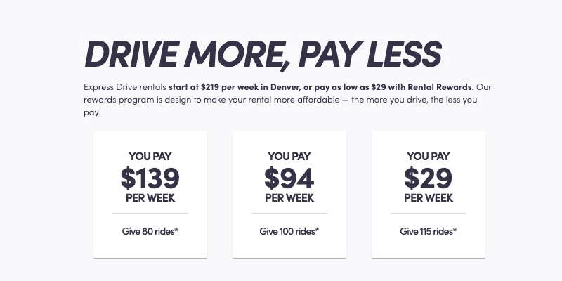 Drive more, pay less with Lyft Express Drive