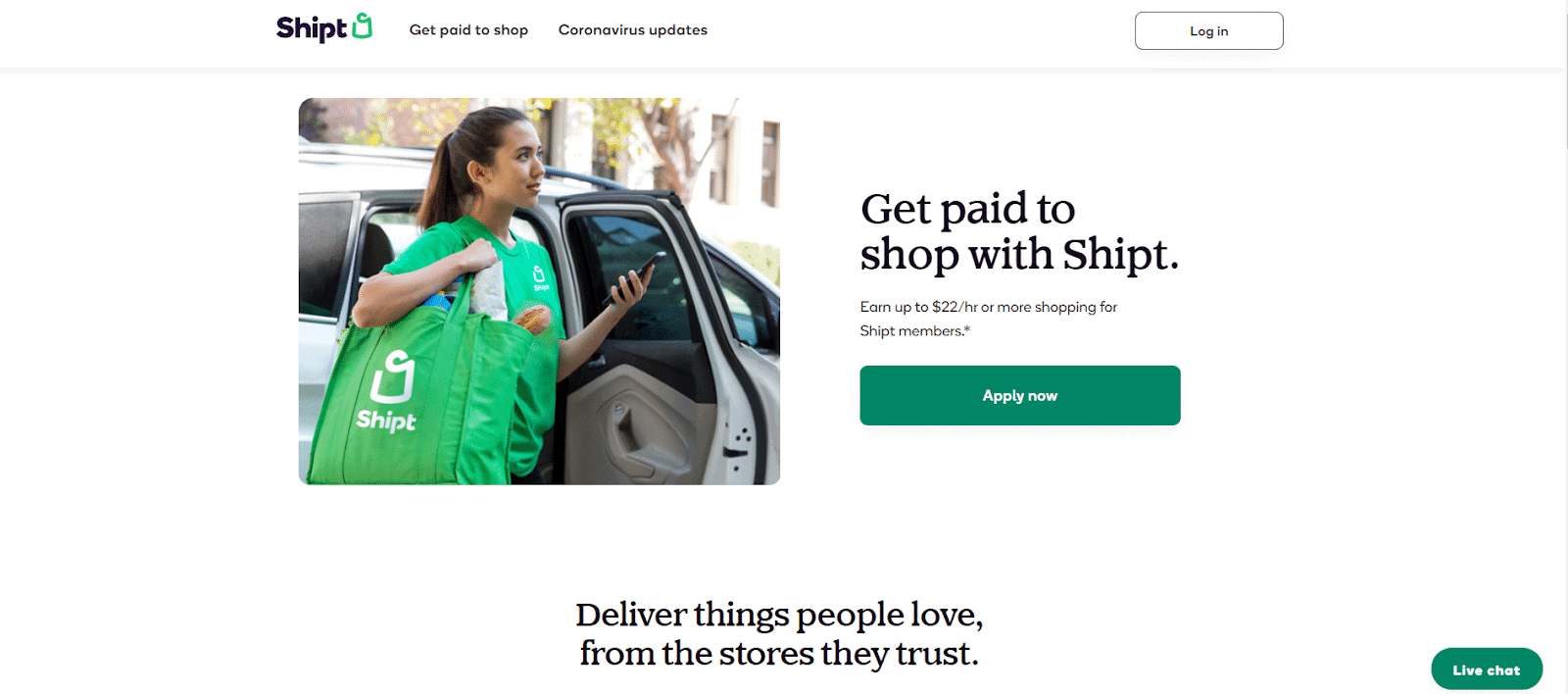 Shipt shopper pay: The page to sign up to be a shopper